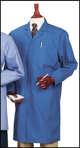 Worklon Lab Coat Unisex Microstat Royal Blue ESD Sz L