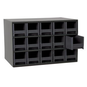 Akro Mils Cabinet, Storage Small Parts, 1900 Ser, 15 Dwr