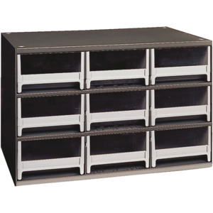 Akro-Mils Storage Cabinet, Small Parts, 9 drawers