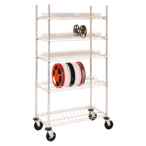 InterMetro SMT Reel Shelf, 18 x 36 x 3.75 in.,for 7 in. Reels