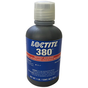 Loctite Adhesive Black Max 380 1 oz Toughtened Instant
