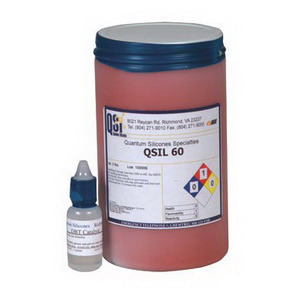 QSI QSil 60 Silicone, 2-Part, Self Leveling, Red, 1 Quart