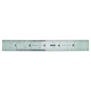 General Tools Ruler, 6 in., Stainless Steel