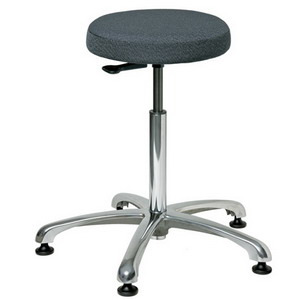 Bevco Stool, 3000 Silver Series, Round, Fabric