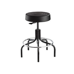 Bevco ErgoLux Stool 20.5 in.-25.5 Height Adj, Tubular Steel Base