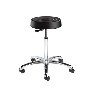 Bevco ErgoLuxStool,20.5 in.-27.75 Heigth Adj, 5-Star Aluminum Base