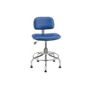 Bevco Chair Ergonomic, Fabric, 19.5 in. - 27 in., Adjustable Tilt, Mushroom Glides, Foot Ring