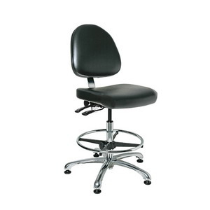 Bevco Cleanroom Chair, Class 1000, Tilt, 19-26.5 in. Adjustable