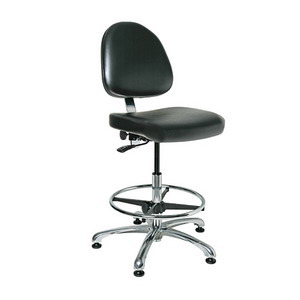 Bevco Chair, Class 100 Cleanroom, 21.5 in.-31.5 in.  Height - Adjustable