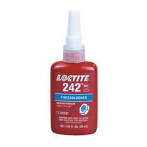 Loctite Threadlocker Adhesive, 242, Removable Grade, 50 ml