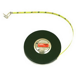 Lufkin Tape Measure, Banner, 100 ft. Long, 3/8 in. Wide, B1 Blade