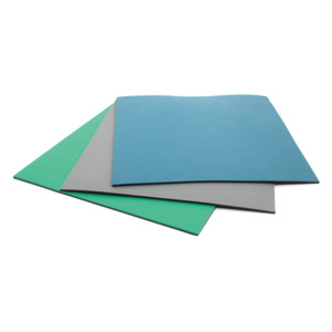 SCS Table Mat Dissipative Rubber 2.5 ft.x40 ft. Blue No Hrdware