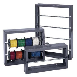Durham Rack, Wire Spool, 4 Rows, 26-1/8 in.W x 37-1/8 in.H x 6 in.