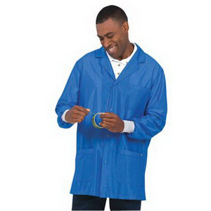 Worklon Lab Jacket Unisex Work Stat Royal/WS ESD Cuffs Sz M