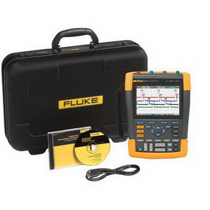 FLUKE-190-104/S Scopemeter, 4 Channel, 100MHz, Color, SCC