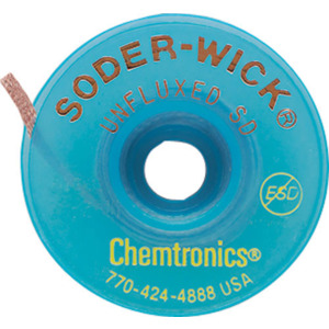 Chemtronics Soder-Wick, .080 in. 10Ft Spool, Size 3, Green