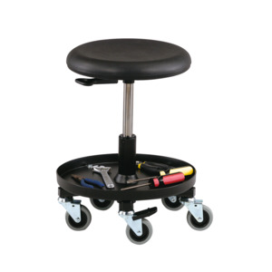 Bevco Stool 3000 Series Adj. 15.5 in.-20.5 in., Black Poly