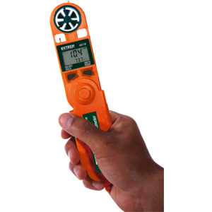 Extech Mini Thermo-Anemometer, Dual Display, Air Velocity