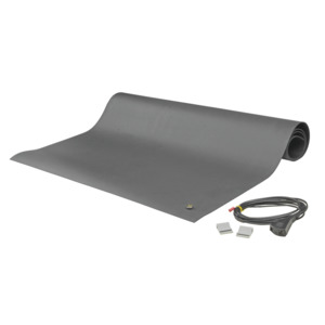 SCS Table Mat Dissipative Rubber 8860 3 ft. x 24 ft. Gray