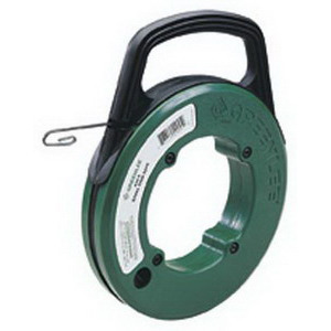 Greenlee Fish Tape Steel, 65 ft. x 1/8 x .060 in., Winder Case