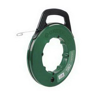 Greenlee Fish Tape Steel 125 ft. x 1/8 x .060 in. Winder Case