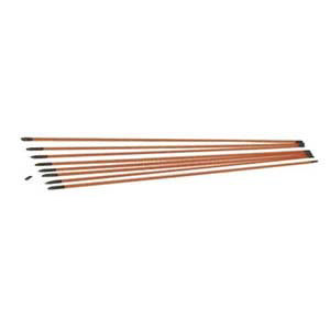 B.E.S. Fiberfish II Kit, 24 Ft Of 3 Ft Rods, Orange, 3/16 in.