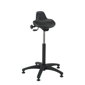 Bevco Chair Sit-Stand 13 x 13 in. Seat,Black,22 in. -32 in. Height