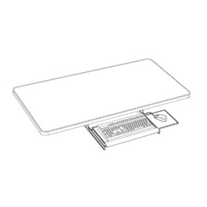 Production Basics Keyboard Tray With Mouse Slide Tray