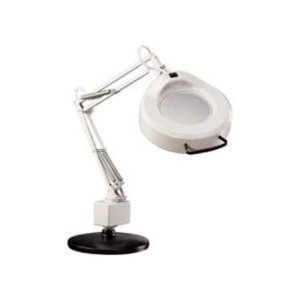 Luxo Magnifier IFM 3 Diopter 30 in. Arm Clamp-On Base Lt Gray