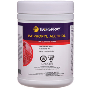 Tech Spray Isopropyl Alcohol Wipes, 100 per dispenser