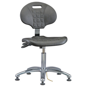 Bevco Chair,ESD, Tilt, MG Adjustable 14-1/2 in.-19-1/2 in.,