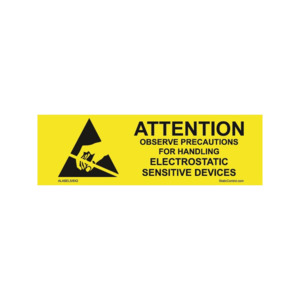 Techni-Stat Destructible ESD Label, 5/8 x 2 in., 1000/Roll