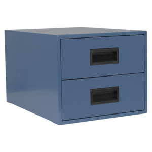 IAC Drawer Assembly,Workmaster 6 in. Deep, Double, EZE Blue