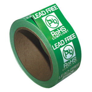 SCS Lead Free Label, RoHS Compliant, 1-3/4 x 1-3/4 in.
