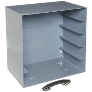 Durham Rack, Gray, Holds Large Plastic Compartment Boxes