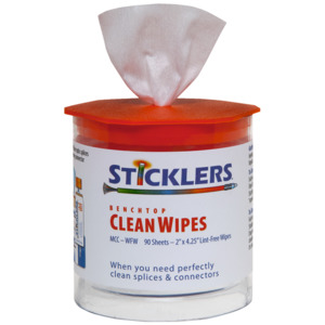 Sticklers Benchtop CleanWipes, 4 x 2 in., 90/Tub