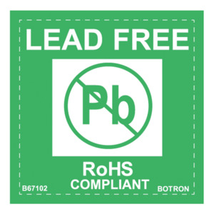 Techni-Stat Label Lead Free - RoHS Compliant 2 x 2 in. 500/Pk