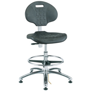 Bevco Chair,Non-Tilt, ESD Adjustable 17-1/2 in.-25 in., Mushroom Glides