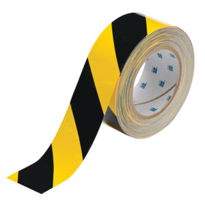 Brady 3 in Floor Marking Tape, ToughStripe, 100 ft., Black/Yellow