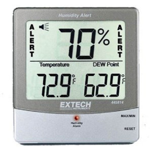 Extech Hygro-Thermometer Humidity Meter, With Dew Point