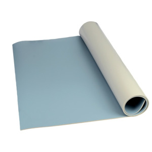 SCS Mat 3 Layer Vinyl Roll Dissipative Blue 4 ft. x 50 ft.