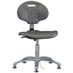 Bevco Chair,ESD,Non-Tilt,ESD, Adjustable 14-1/2 in.-19-1/2 in.,Mushroom Glides