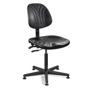 Bevco Chair, Polyurethane, Adj. 15 in.-20 in., No Tilt, MG