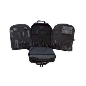 CH Ellis Backpack w/Fold Out Pallet Set, Black, Nylon