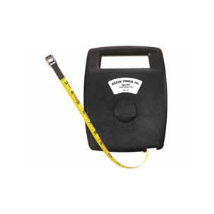 Klein Tape Measure, 100 ft., Fiberglass, 1/2 in. Wide