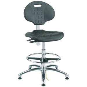 Bevco Chair,Adjustable 20-1/2 in.-30-1/2 ESD Poly,Tilt, MG,