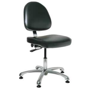 Bevco Chair, Class 10000 Cleanroom, 15.5 in.-21 in.  Height - Adjustable