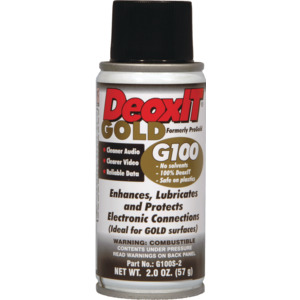 DeoxIT GOLD Spray, Contact Conditioner, 57g,Metered Valve