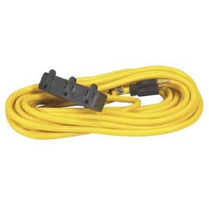 Bayco Extension Cord 50 ft. Contractor Grade Triple Tap