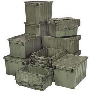 Quantum Attached Top Container 20 x 11-1/2 x 7-1/2 in. - Gray